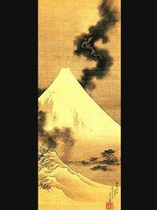 Hokusai, 'Smoke Escaping from Mount Fuji'.