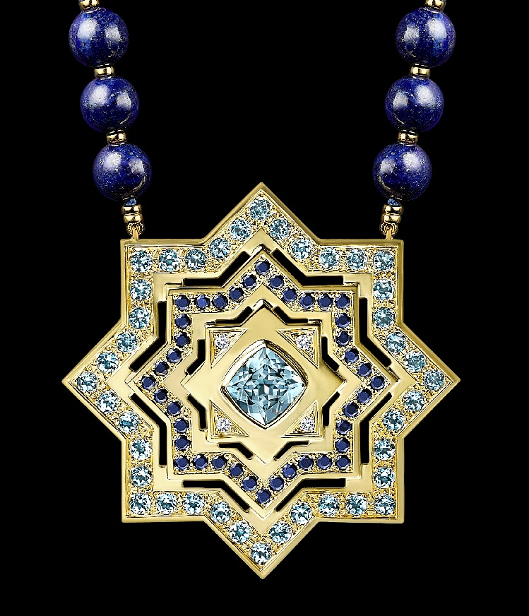 Arabian Star necklace- detailed view